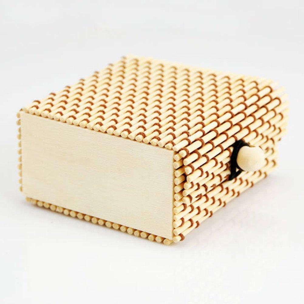 caja de la joyería de bambú/Collares pulseras pendientes anillos joyería la caja/Paquete/caja de regalo-regalo