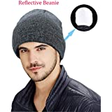Amazon.com   Rotus Unisex Reflective Beanie Hat Enhanced Visibility ... 9b1f4e93755e