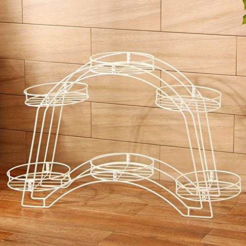 - CWJ Plant Shelf-Balcony Double Flower Bed Frame Living Room Floor Flower Frame European Style Iron Plate Shelf Living Room Balcony