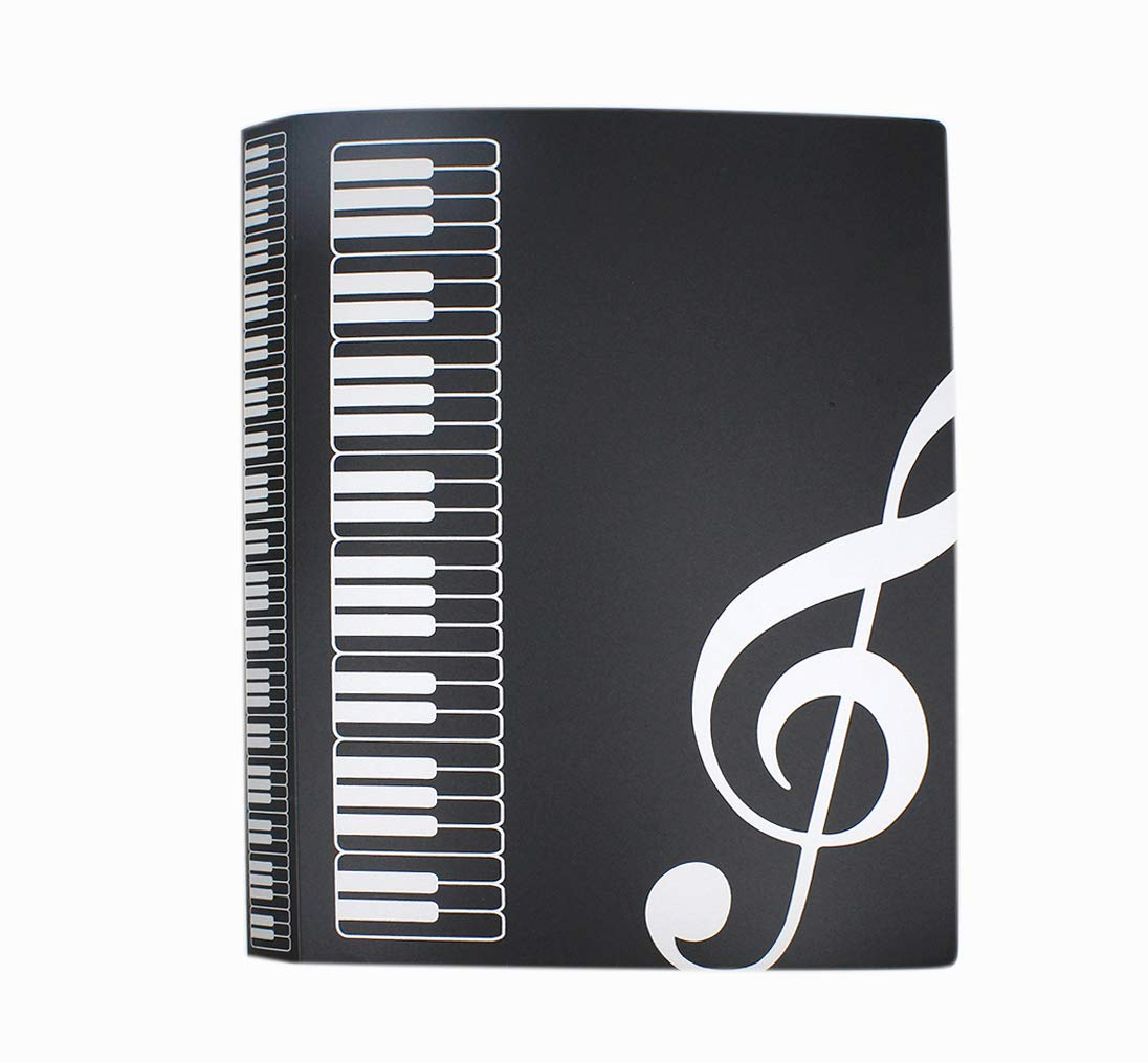 Aimeio 40-Pocket Protector Presentation Book A4 Size 80-Page Capacity,Available for Report Sheets,Artworks,Music Sheets,Clippings School Office Supplies,Black