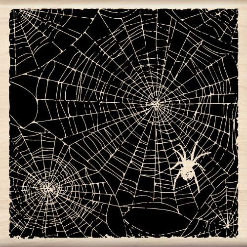 Inkadinkado Wood Stamp, Spider Webs -