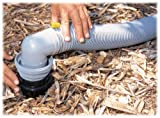 Camco Easy Slip Elbow and 4-in-1 Sewer Adapter with Easy-Slip Rings -Securely Connects RV Sewer Hose to Dump Station