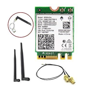 TwoCC Tarjeta de red Bluetooth, 9260Ngw 1.73Gb / s Dual Band ...
