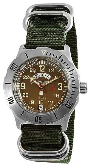 d1765f1621 Vostok KOMANDIRSKIE K-35 Militar ruso reloj con Zulu correa K35  2432/350754: Amazon.es: Relojes