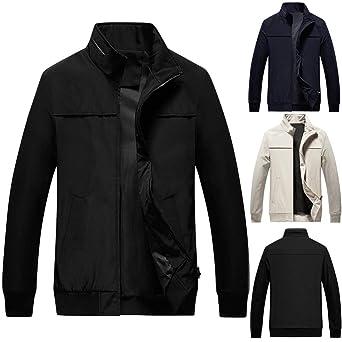 ZODOF chaqueta hombre Otoño Casual Moda Color puro Labor de ...
