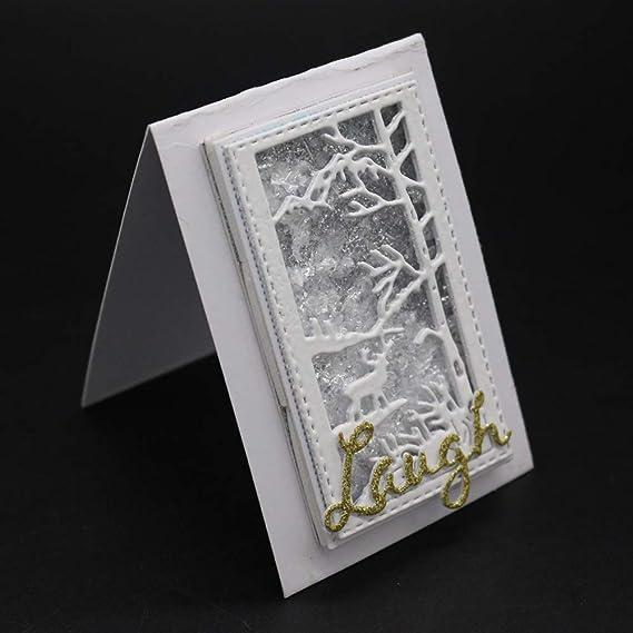 Fellibay - Plantillas de metal para tarjetas de felicitación de boda, plata, C50x86MM: Amazon.es: Bricolaje y herramientas