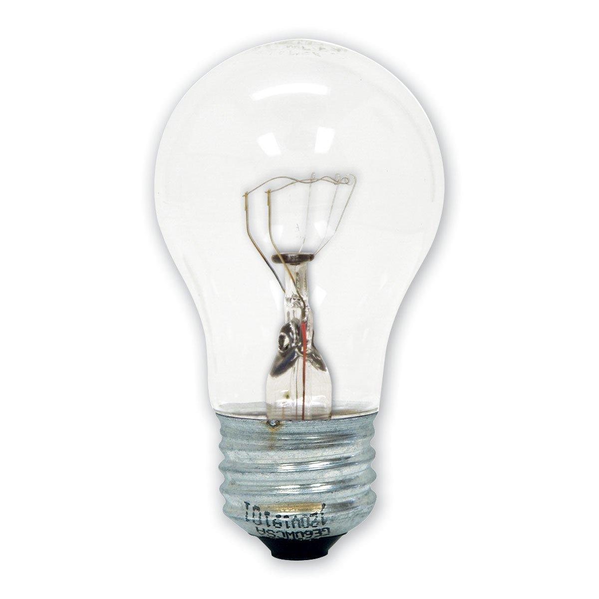 GE 15206-12 40-watt Appliance Light A15 Light Bulb, 24-pack