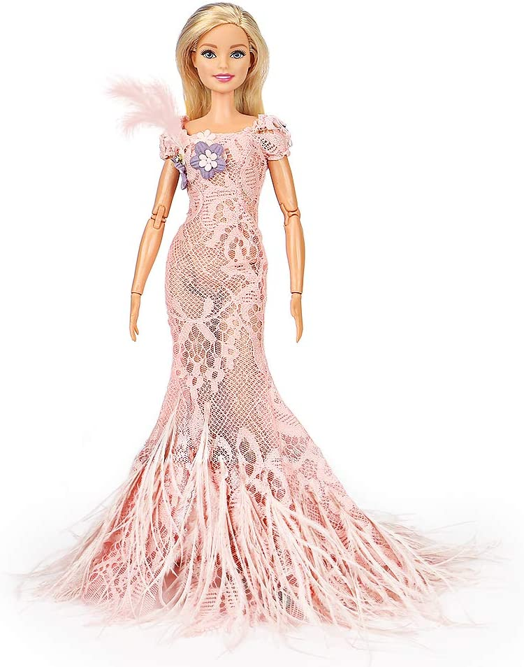 Beautiful Pink Evening Gown Made to Fit Barbie Doll