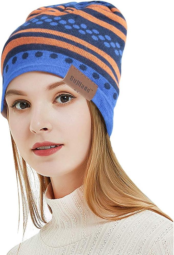SuMade Waterproof Beanie Hat, Unisex Lightweight Soft Spring Knitted Acrylic Slouchy Skull Cap Anti UV