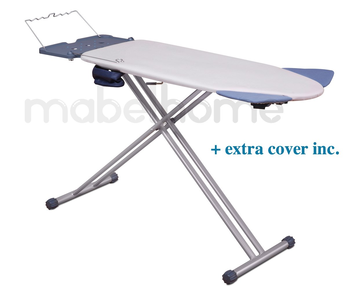 Mabel Home Extra-Wide ironing Pro Board with Shoulder Wing Folding, 8 Feature, with + Extra Cover by Mabel Home