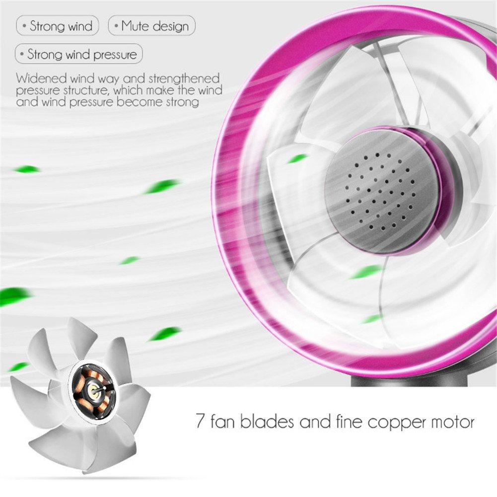 Mini Handheld Fan,Aromatherapy Fan Handy USB Rechargeable Electric Desk Desktop Personal Cooling Small Fan for Outdoor Indoor Travel Home Office Desktop,3 Speeds Level (Blue/Purple) by OWIKAR (Image #3)