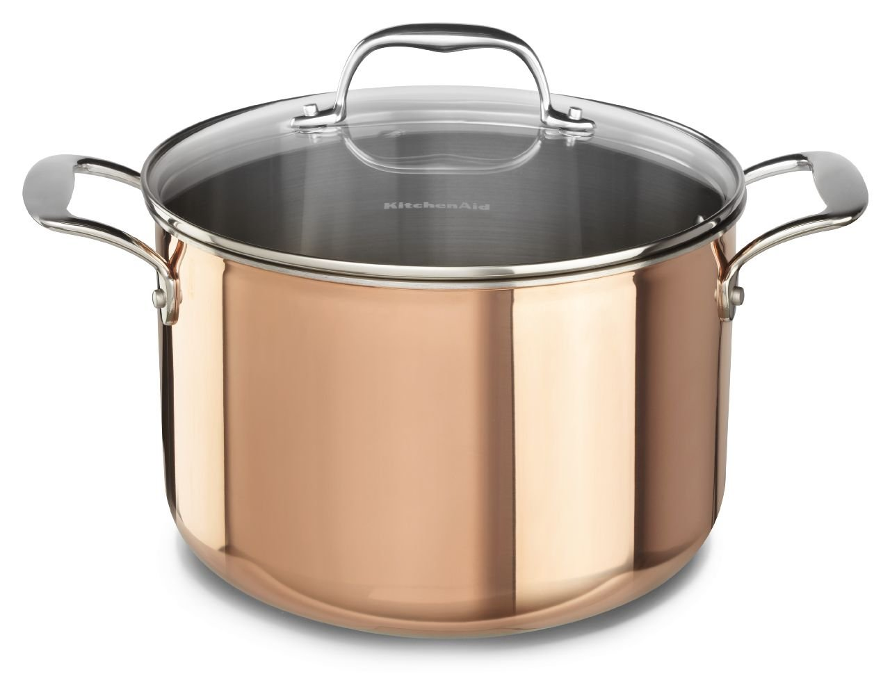 Amazon.com: KitchenAid KCP30PLCP Tri-Ply Copper 3.0-Quart Saucepan ...
