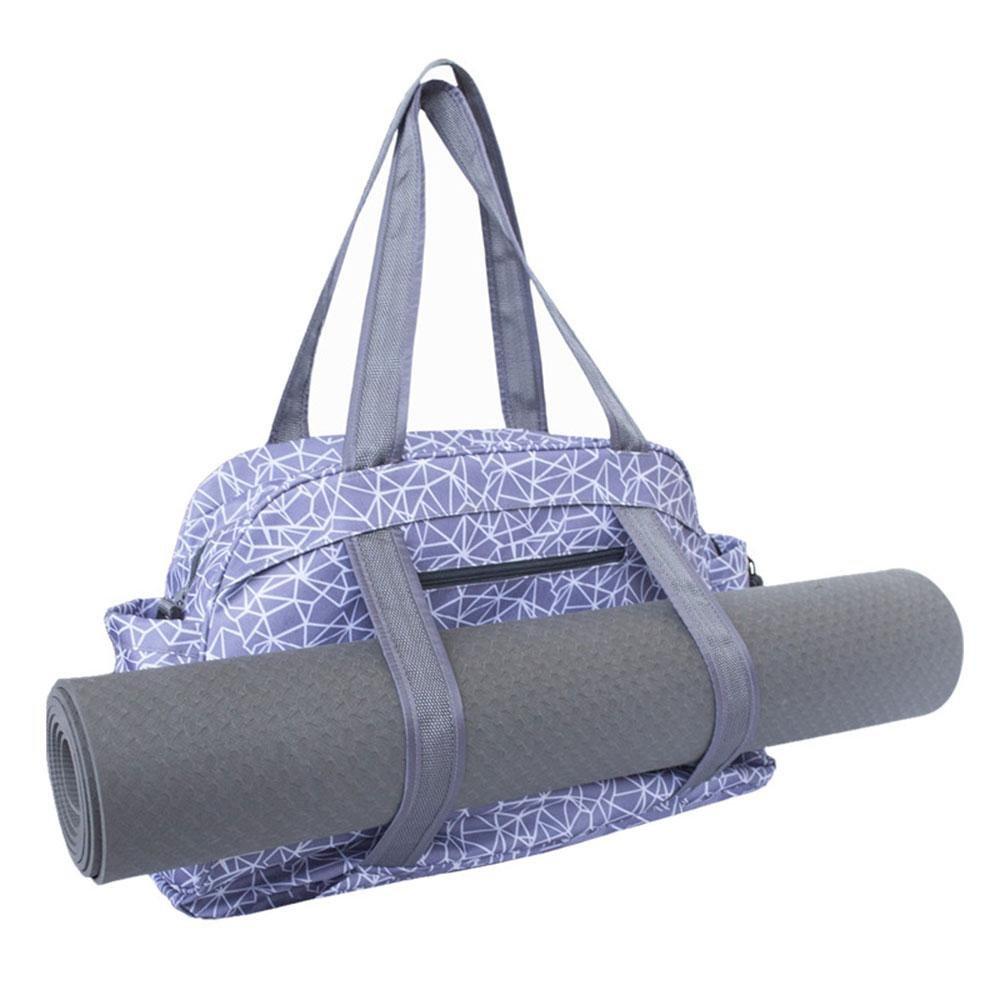Aolvo Tapis de yoga Sac fourre-tout, Sac de rangement pour tapis de yoga pilates Vêtements et accessoires de transport pour femme de sport, DE Grande capacité et multifonction pour bureau, yoga, gym et plage de voyage–Noir violet