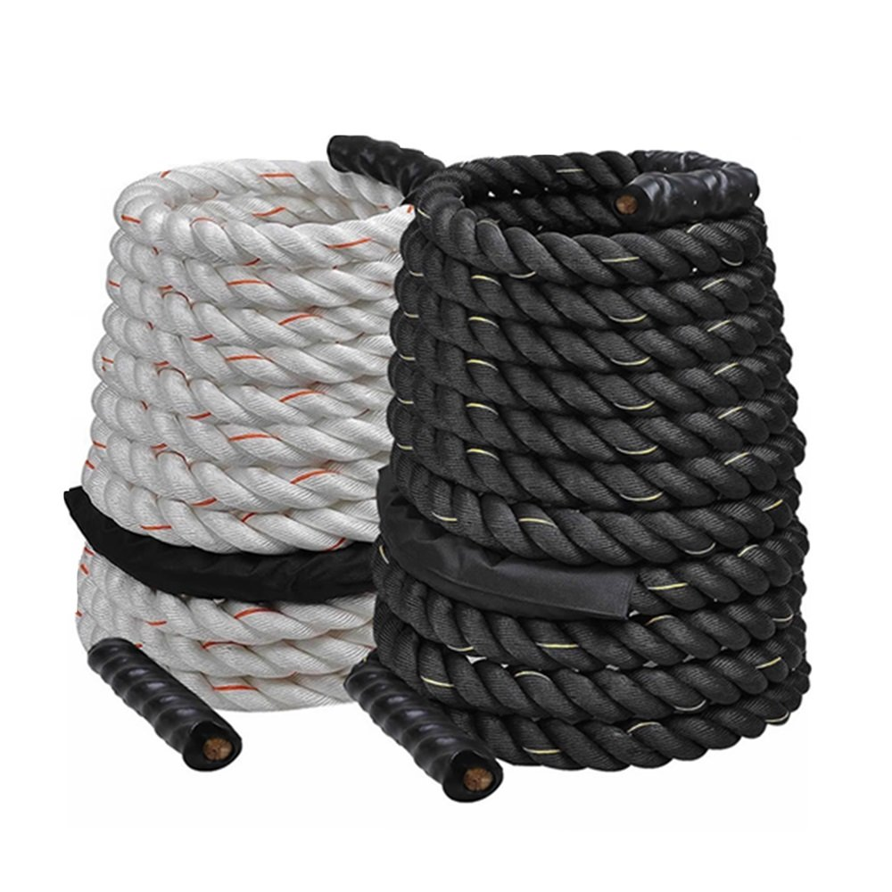 1.5'' Poly Dacron 50ft/White Battle Rope Workout Strength Training Undulation TKT-11 by TKT-11 (Image #7)