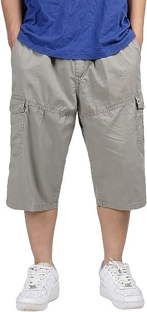 AIEOE Short Cargo Pants Homme 3/4 Large Pantacourt