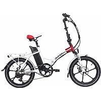 bicicleta eléctrica QUADRINI, bicicletas eléctricas plegables, modelo MINIMAX, Shimano, La batería de litio-ion 36V10Ah (360Wh), Motor trasero marca 36V 350W 8FUN