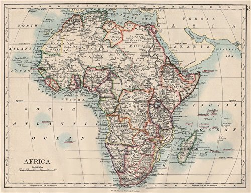 Colonial Africa. British East/Central/South Africa. Bechuanaland - 1900 - Old map - Antique map - Vintage map - Printed maps of - Us Map Colonial