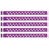 "500 Purple Paw Print Tyvek Wristbands - 3/4 "" Width"