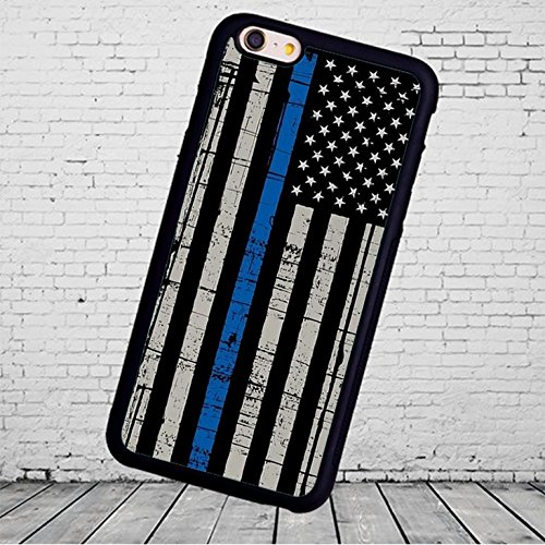 Rhino Armour Slim Ultra Premium Case -Thin Blue Line Police for New Apple iPhone XR(2018 Model) Made & Printed in The USA