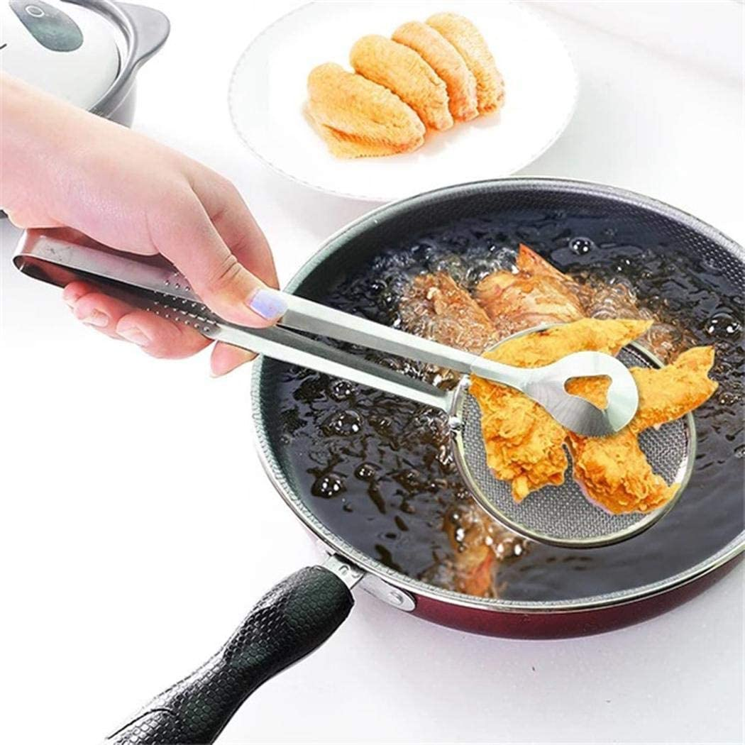 Speedrid Nueva Cuchara de Filtro Multifuncional de Cocina con Filtro de Ensalada de Barbacoa para fre/ír Aceite con Clip