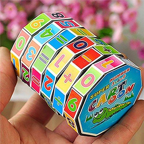 XKSIKjian Children Kids Mathematics Magic Cube Puzzle Education Learning Maths Toy Gift -