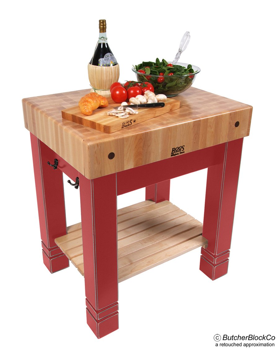 Amazon.com: Butchers Block Table (Black): Kitchen & Dining