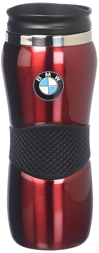 3cf6e307e1e Amazon.com: BMW Stainless Steel Gripper Travel Mug - Red 15oz ...