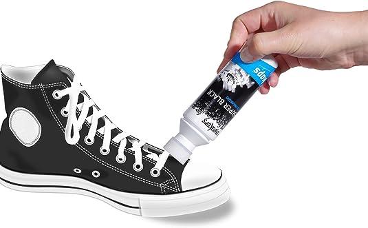 Kaps Tinte Restaurador Color Negro para Zapatillas de Deporte y Calzado Informal, Cuero y Textil, Super Black, 75 ml