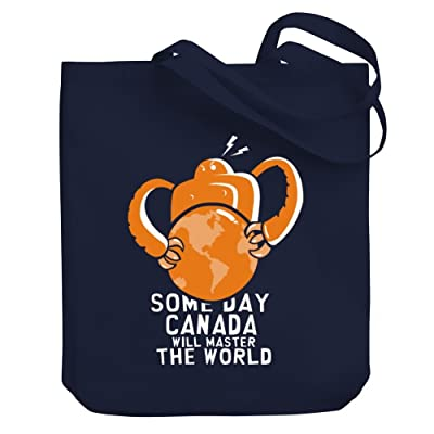 Teeburon SOME DAY Canada WILL MASTER THE WORLD Canvas Tote Bag