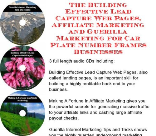 The Guerilla Marketing, Building Effective Lead Capture Web Pages, Affiliate Marketing for Car Plate Number Frames - Frame Webpage