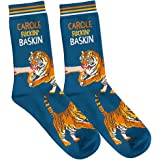 Carole Baskin & Tiger King Joe Exotic Novelty Crew Socks | FUNATIC Best Quality Unisex for Men Women | One Size Fits Most