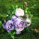 Luyue-Vintage-Artificial-Peony-Silk-Flowers-Bouquet-Home-Wedding-Decoration-New-Purple