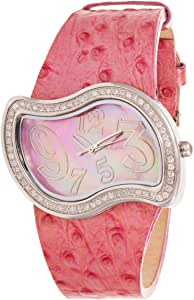 Murex Women's Pink Dial Leather Band Watch - 9Q.RSL641/SLD