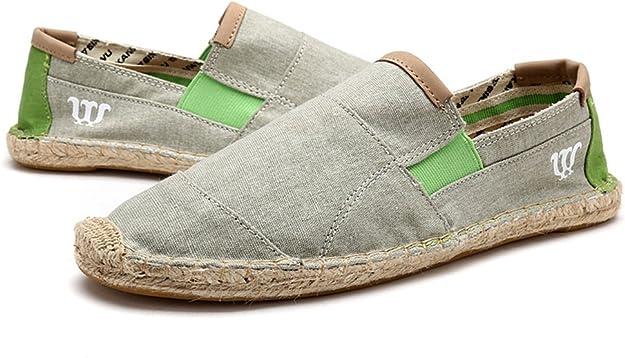 Zapatos de paja de lona para hombre