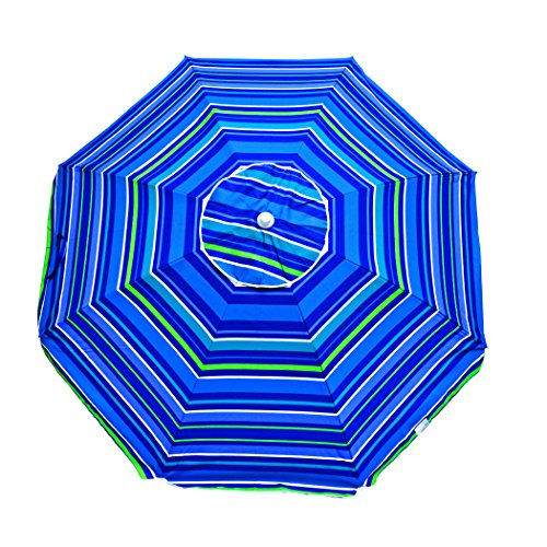 6.5 ft Polyester 100 UPF Beach Umbrella with Vent & Tilt ()