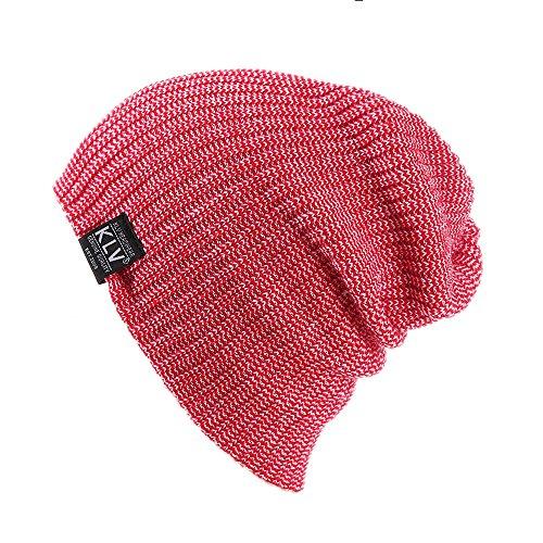 GOVOW Ears Warmers Men Women Baggy Warm Crochet Winter Wool Knit Ski Beanie Skull Slouchy Caps Hat