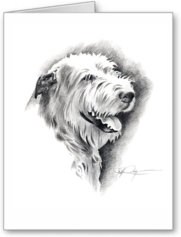 Dog Stationery Flat Note Cards, Irish Wolf Hound Personalized Note Cards Gift for Dog Lovers
