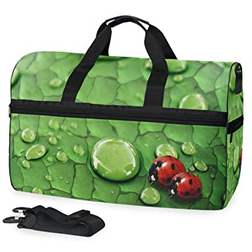 Travel Duffels Cute Fish Leaf Duffle Bag Luggage Sports Gym for Women /& Men