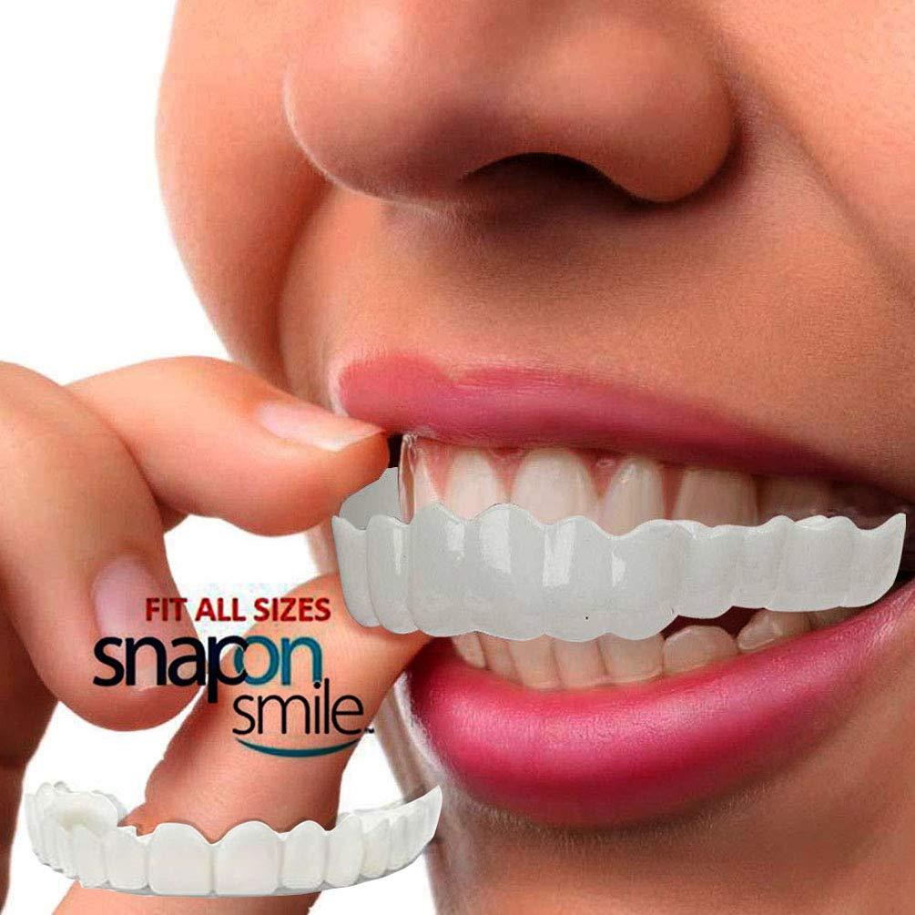 Top and Bottom Temporary Tooth Repair Kit Temp Dental Fix Missing Teeth -  Fake Teeth Snap On Smile Fit