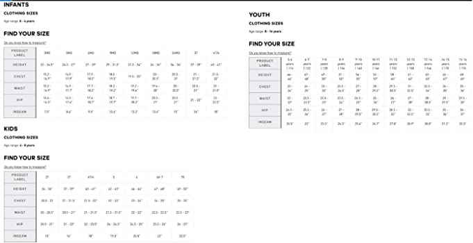Adidas Youth Apparel Size Chart Size Chart | Sturtevants