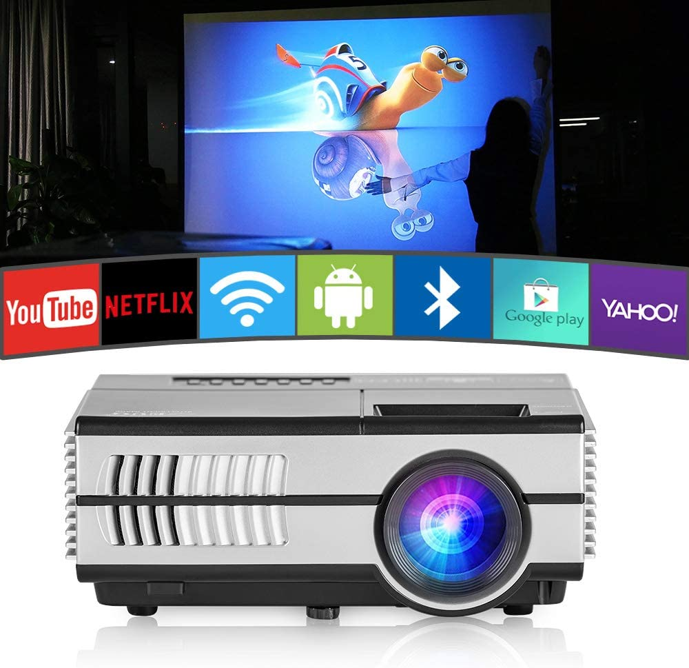 Mini proyector WiFi Bluetooth HDMI portátil Proyector de vídeo ...