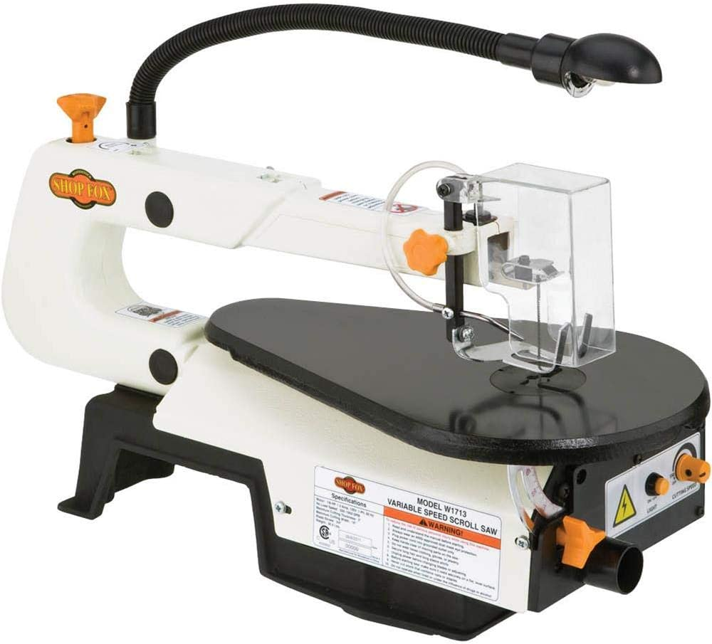 Shop Fox W1713 Variable Speed Scroll Saw – Best Scroll Saw For Beginners