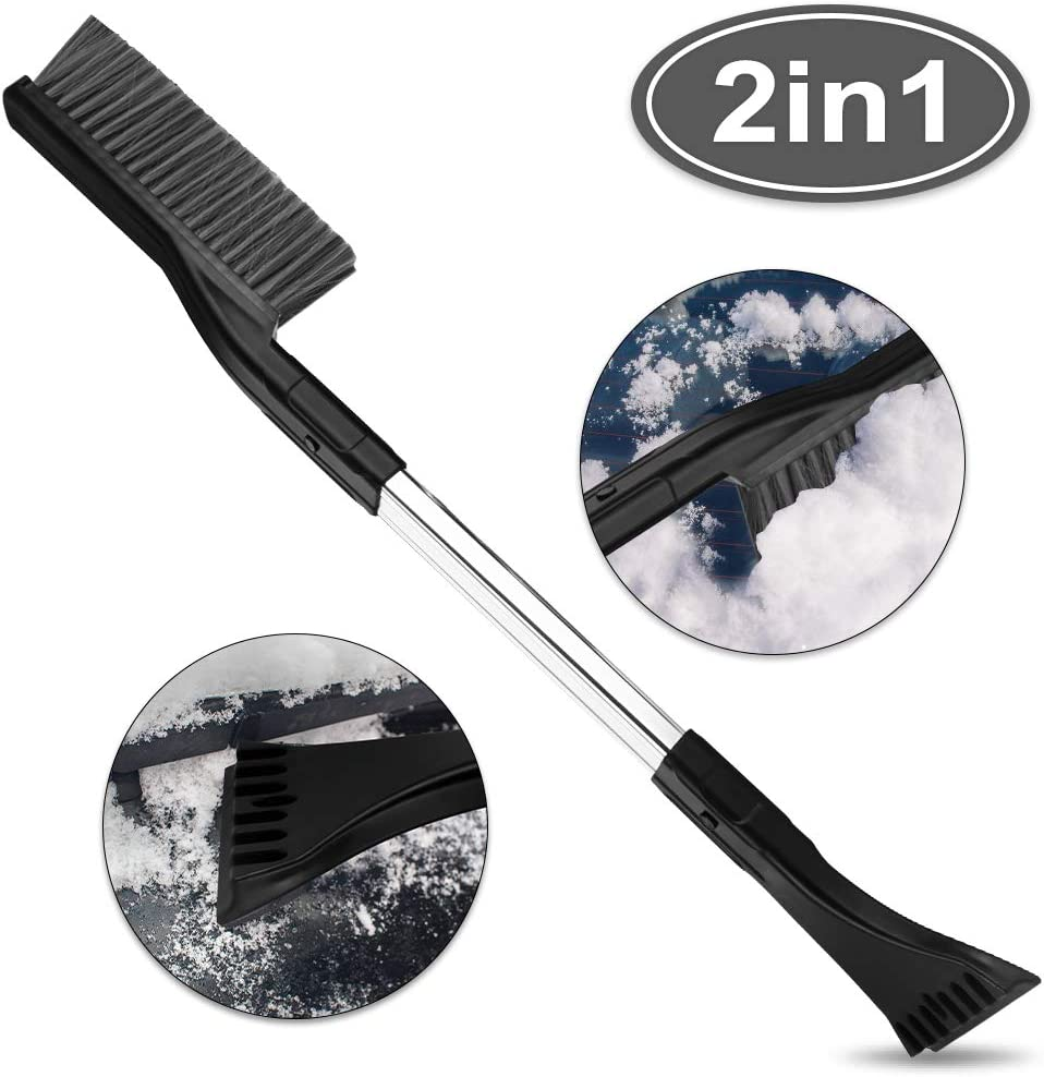 2-in-1-Auto-Schneeb/ürste BIFY Eiskratzer Abnehmbarer 26-Zoll-Schneer/äumer und Schneebesen-Schaufelentfernung Saubere Werkzeuge f/ür Autos SUV-Windschutzscheibe