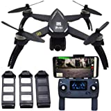 Blomiky B5W 4K Ultra HD GPS RC Quadcopter Drone with 2160P FPV WiFi Camera RTH Extra 2 Battery B5W 4K