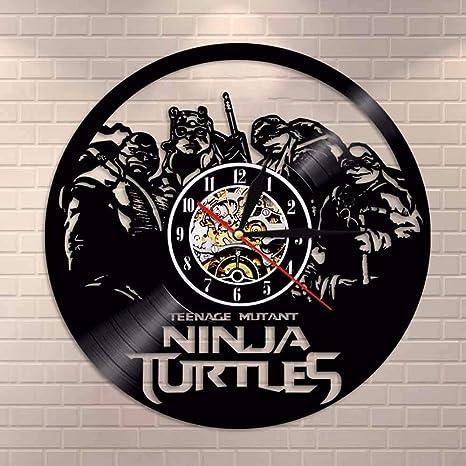mebeaty Registro Reloj de Pared Tortas Ninja Formas Bola ...