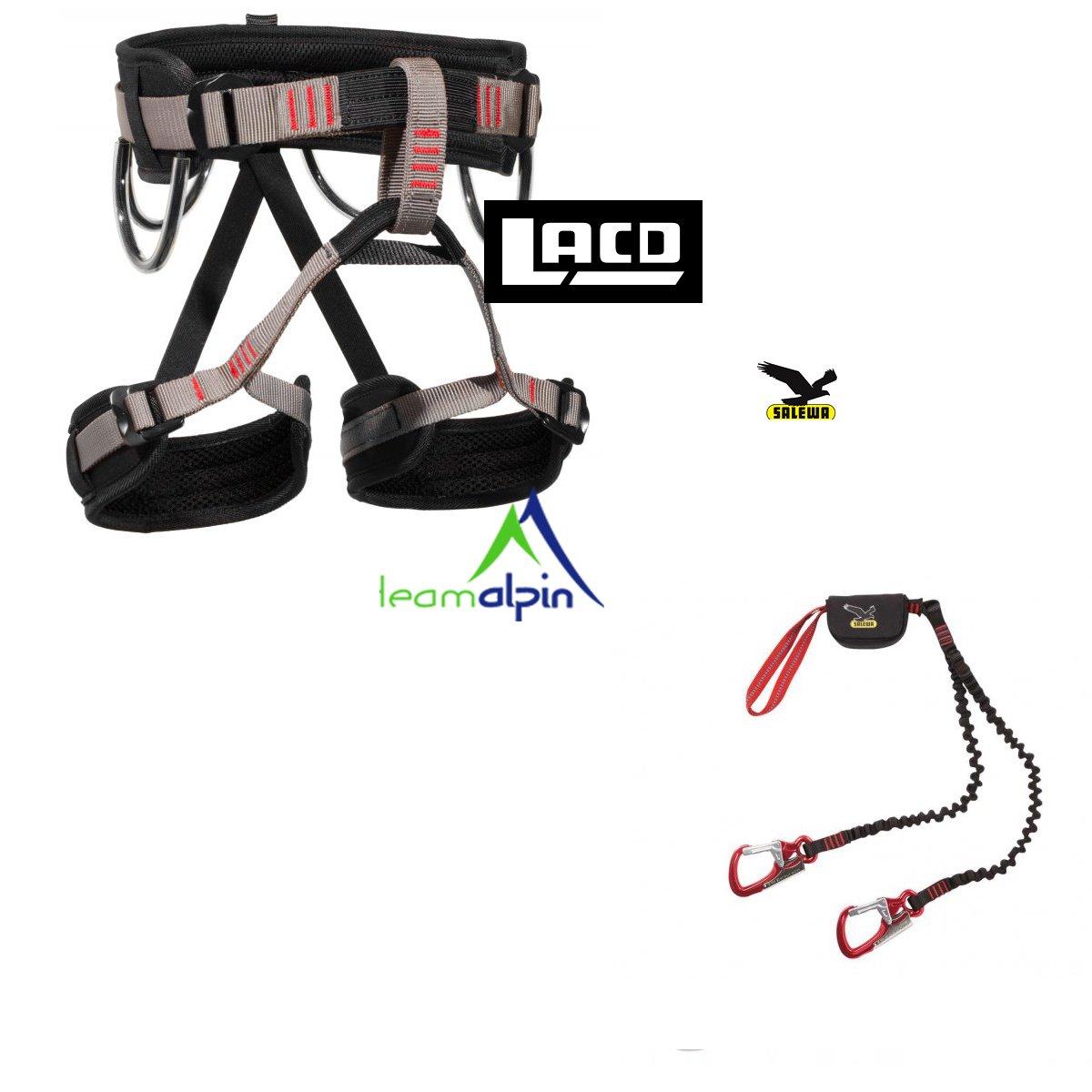 Juego de escalada Salewa Premium Attac + LACD correa Start LACD/Salewa