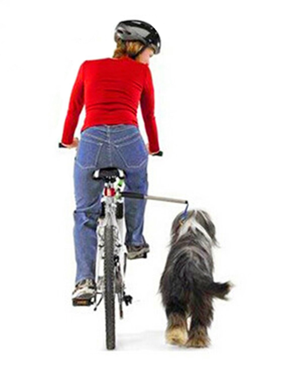 Dog Bicycle Exerciser Leash, FMJI Hands Free Bicycle dog Leash for Exercising/Training/ Jogging/ Cycling/ Outdoor (B)