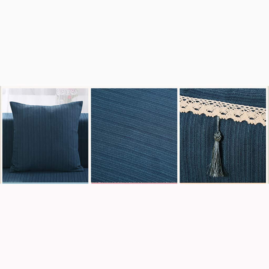 83x138inch Housse De Canap/é De Couleur Pure,1 Pi/èce Lin Coton Simple R/ésistant /à L/'Usure Anti-d/érapant R/ésistant Aux Taches Protecteur Salon Canap/é Housse Canap/é-E 4 des si/èges 210x350cm