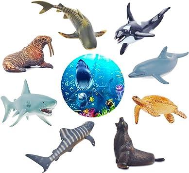GizmoVine Animal Marino Juguetes para Niños Educativo Animal ...