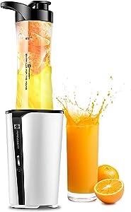 Bullet Blender Personal Smoothie Maker - Small Mini Portable Blender for Fruit Vegetables Drinks , 20OZ Single Cup Blender for Kitchen, Mixer Juicer Bottle, Protein Shakes, Ice, 300W